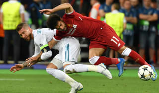 Sergio Ramos Real Madrid Liverpool Mohamed Salah Loris Karius