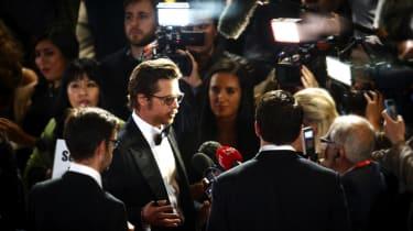 Brad Pitt at Fury premiere